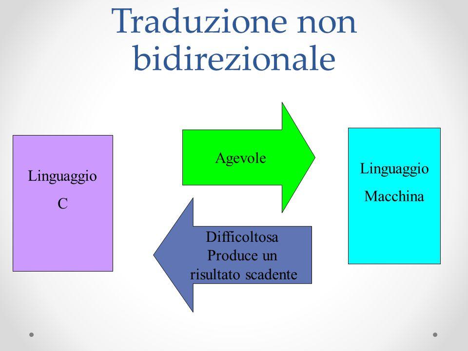 Traduzione non bidirezionale