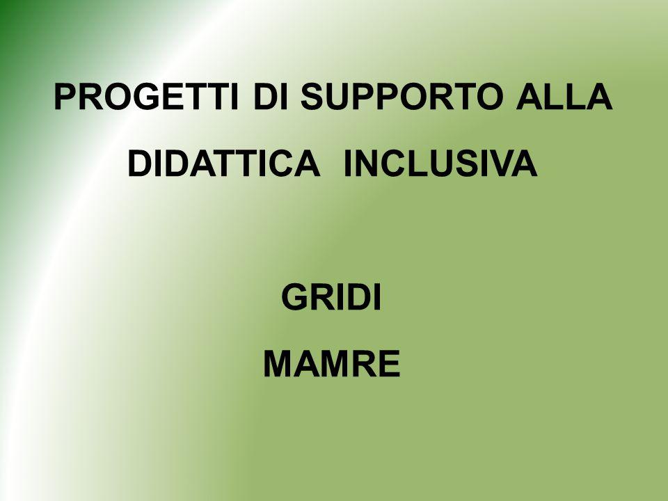 PROGETTI DI SUPPORTO ALLA DIDATTICA INCLUSIVA