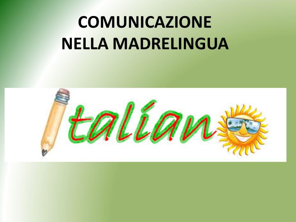 COMUNICAZIONE NELLA MADRELINGUA