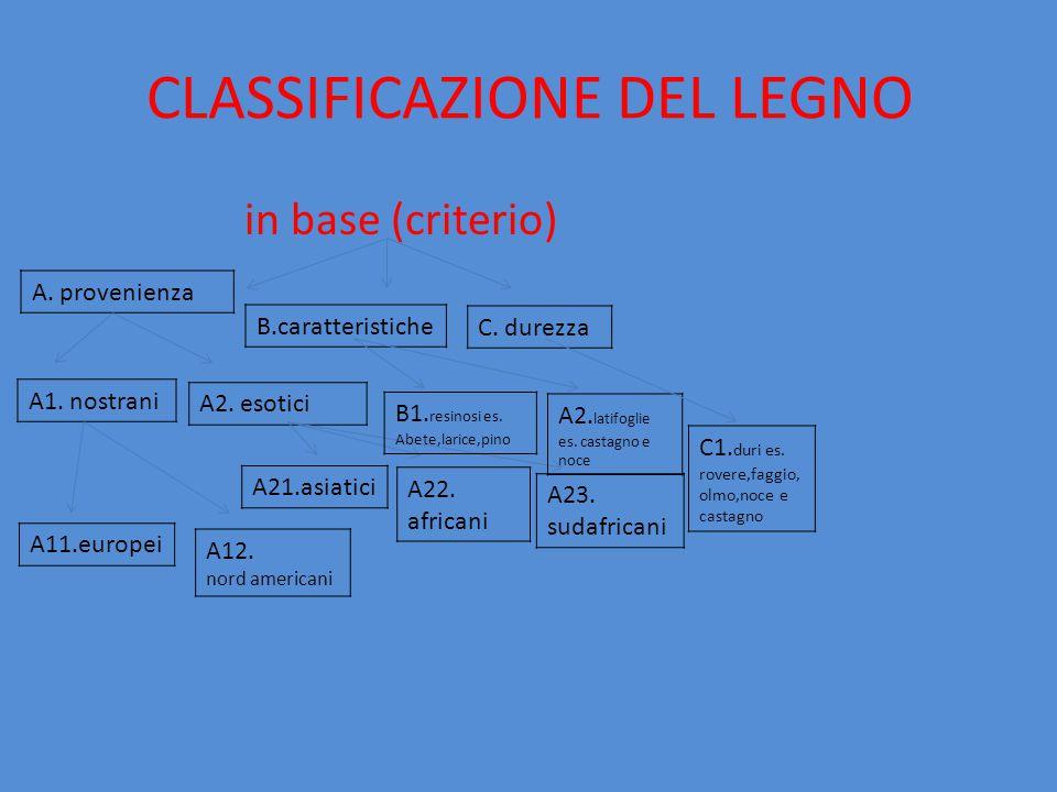 CLASSIFICAZIONE DEL LEGNO