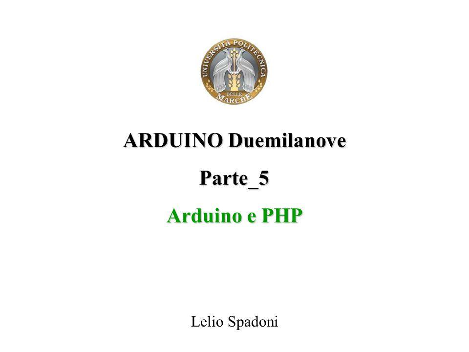 ARDUINO Duemilanove Parte_5 Arduino e PHP