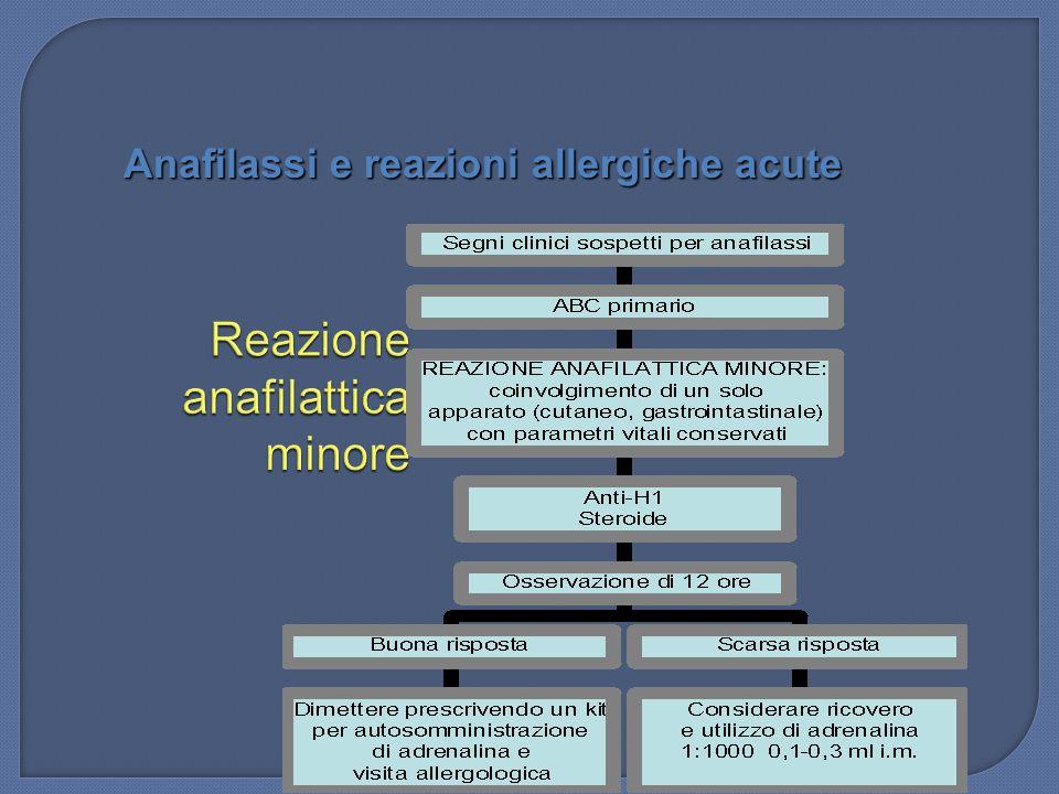 Reazione anafilattica minore