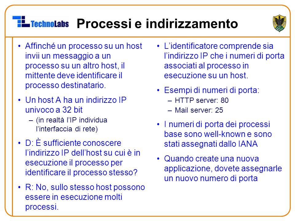Processi e indirizzamento