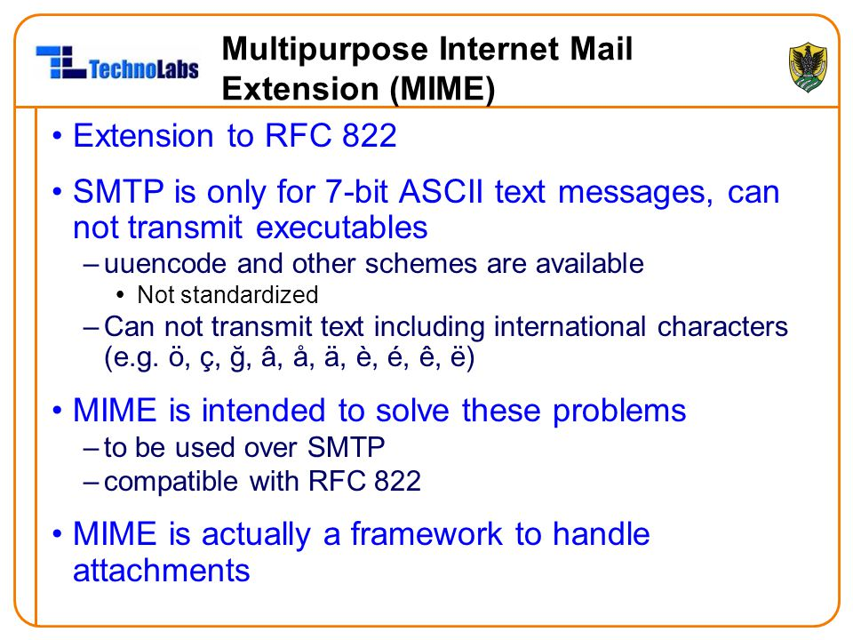 Multipurpose Internet Mail Extension (MIME)