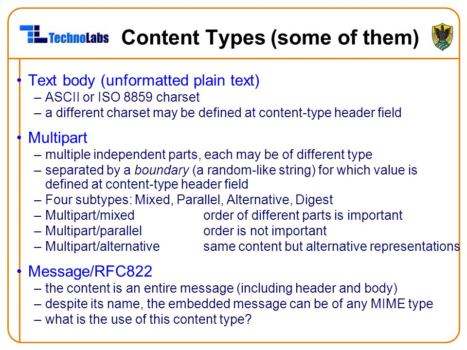 Content Types (some of them)