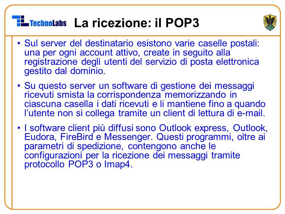 La ricezione: il POP3