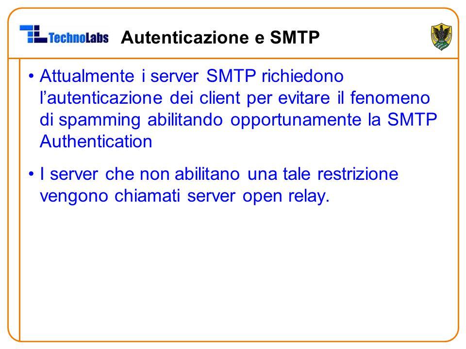 Autenticazione e SMTP