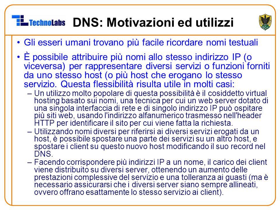 DNS: Motivazioni ed utilizzi