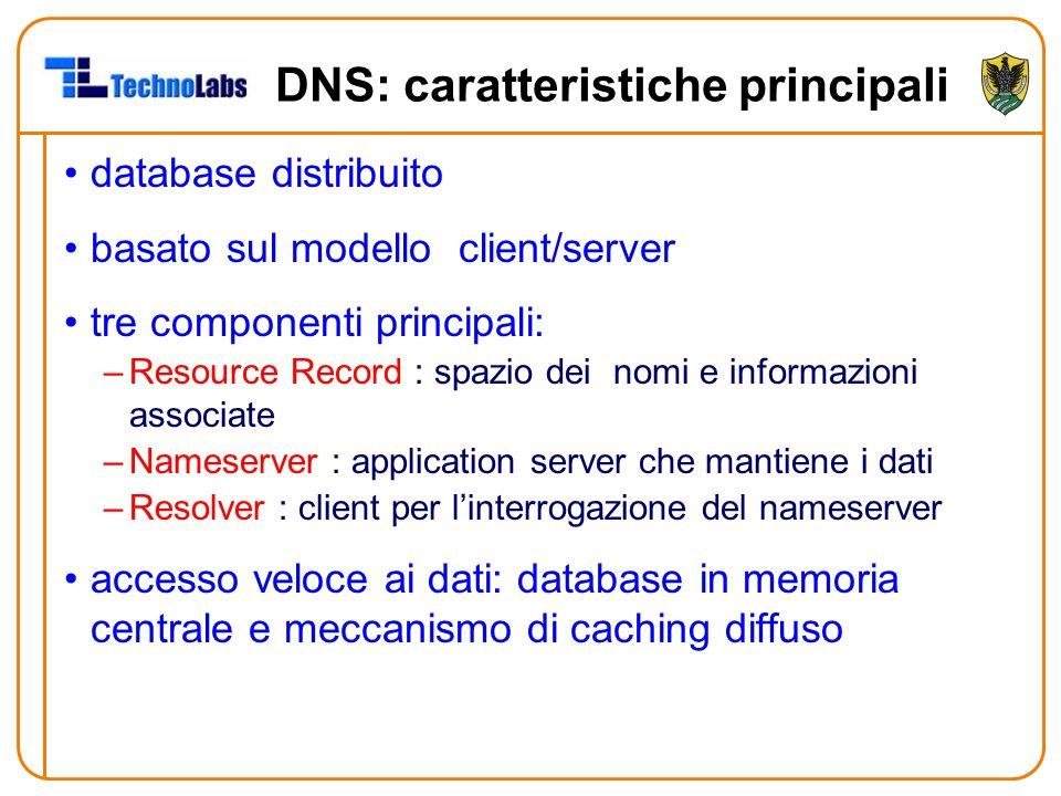 DNS: caratteristiche principali