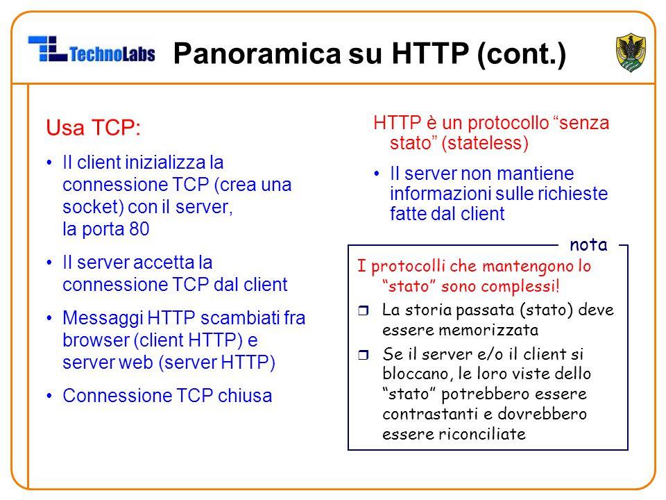Panoramica su HTTP (cont.)