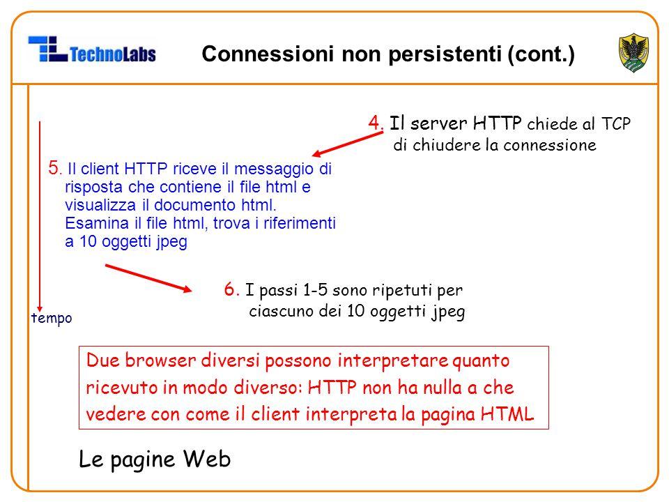 Connessioni non persistenti (cont.)