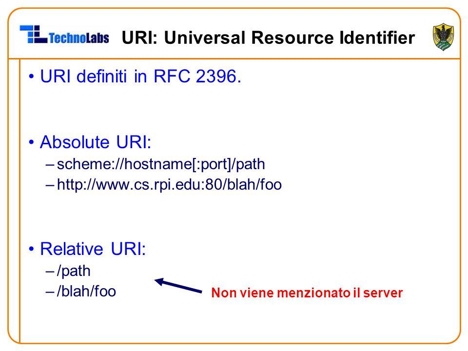 URI: Universal Resource Identifier