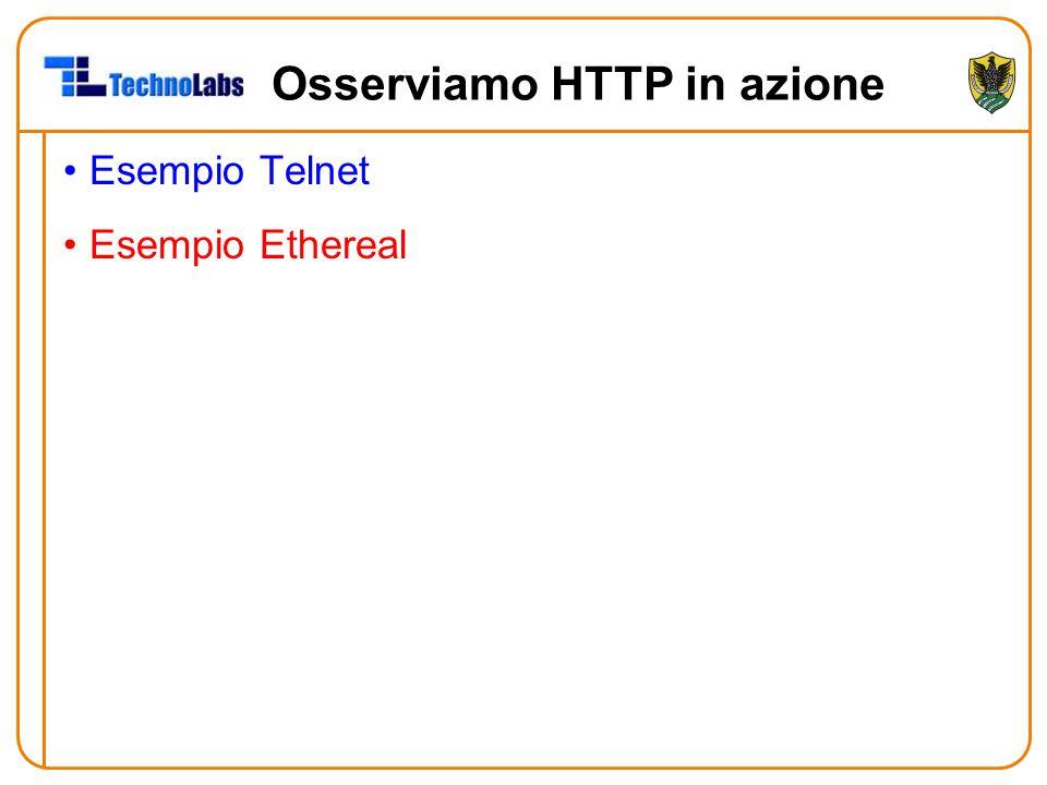 Osserviamo HTTP in azione