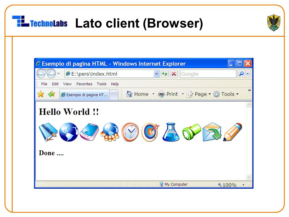 Lato client (Browser)