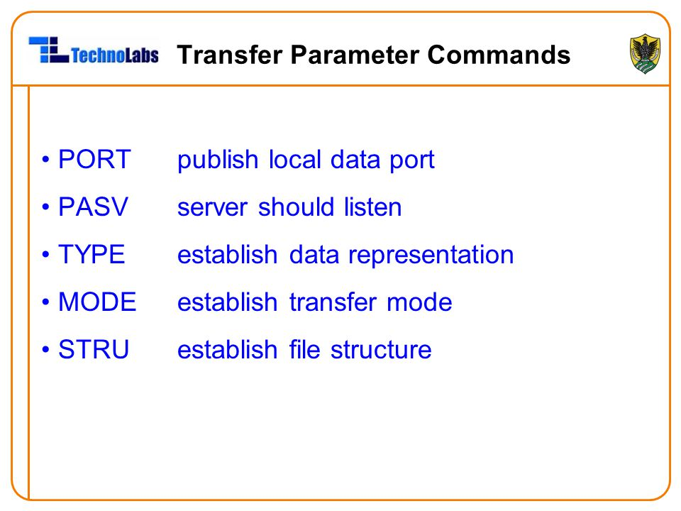 Transfer Parameter Commands
