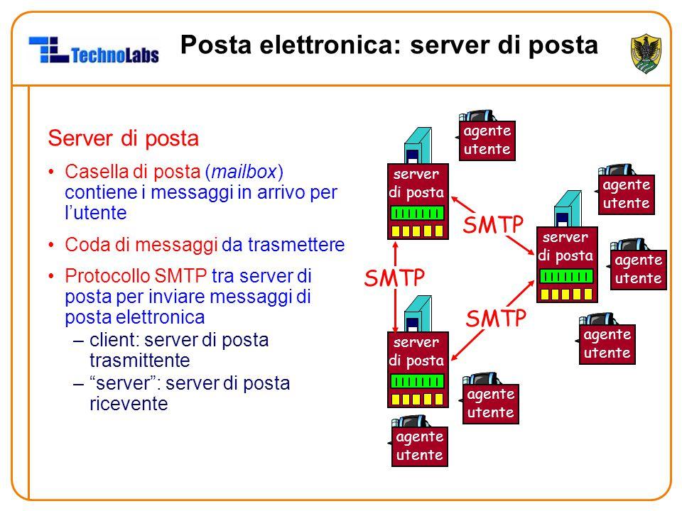 Posta elettronica: server di posta