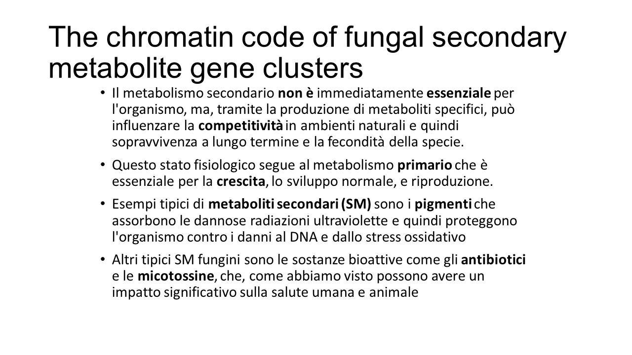 The chromatin code of fungal secondary metabolite gene clusters