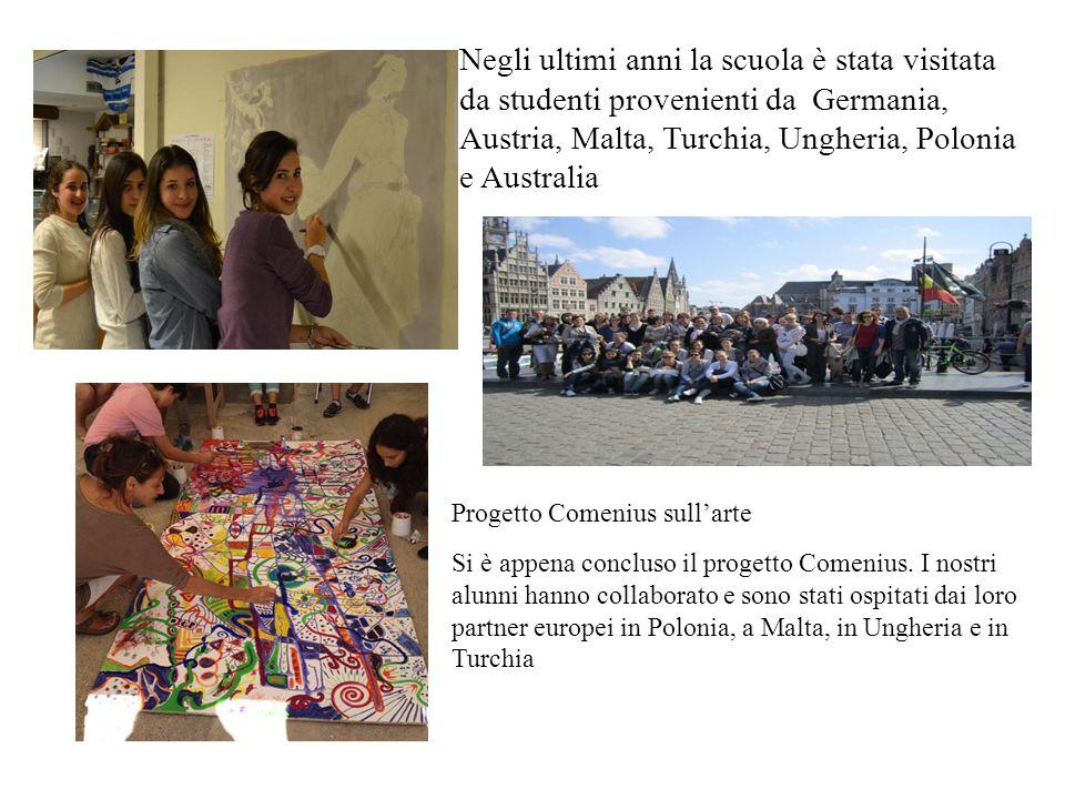 Negli ultimi anni la scuola è stata visitata da studenti provenienti da Germania, Austria, Malta, Turchia, Ungheria, Polonia e Australia