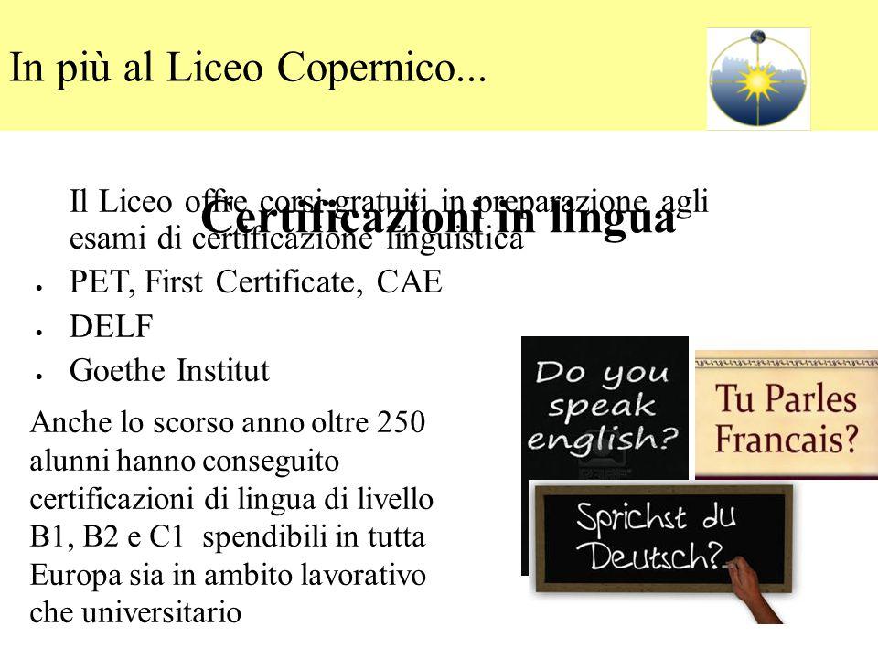 Certificazioni in lingua