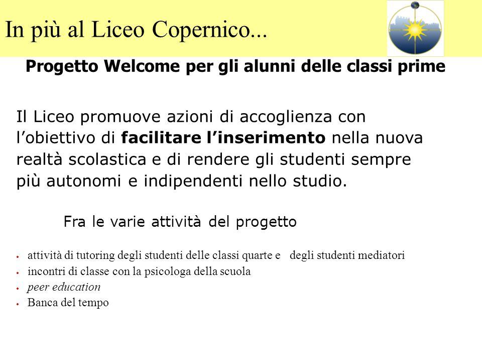Progetto Welcome per gli alunni delle classi prime