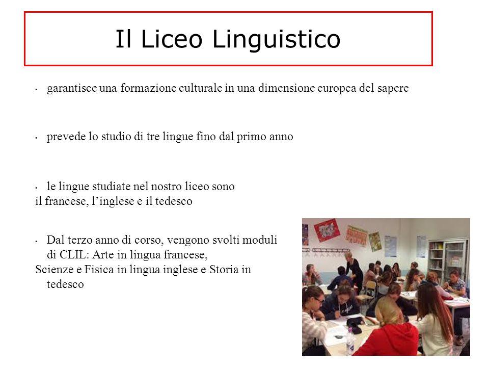 Il Liceo Linguistico garantisce una formazione culturale in una dimensione europea del sapere. prevede lo studio di tre lingue fino dal primo anno.