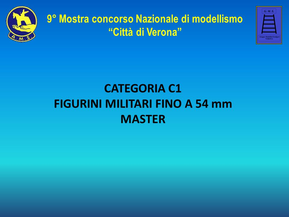 CATEGORIA C1 FIGURINI MILITARI FINO A 54 mm MASTER