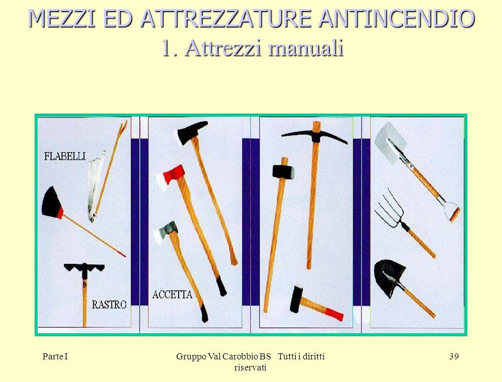 MEZZI ED ATTREZZATURE ANTINCENDIO 1. Attrezzi manuali