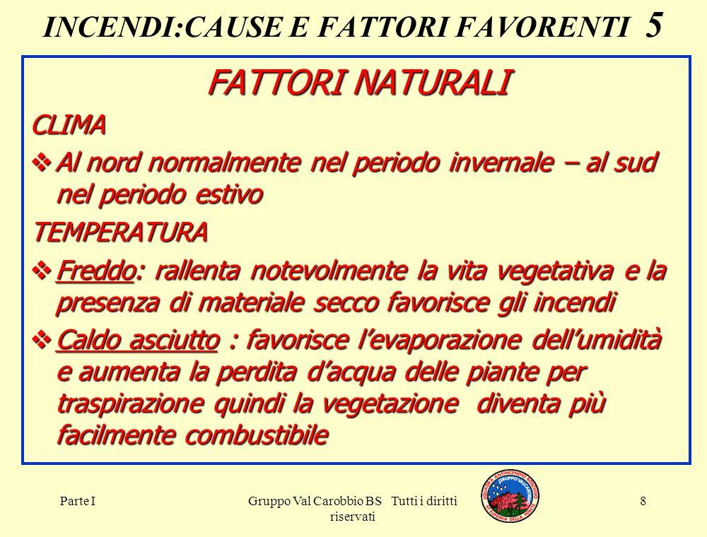 INCENDI:CAUSE E FATTORI FAVORENTI 5