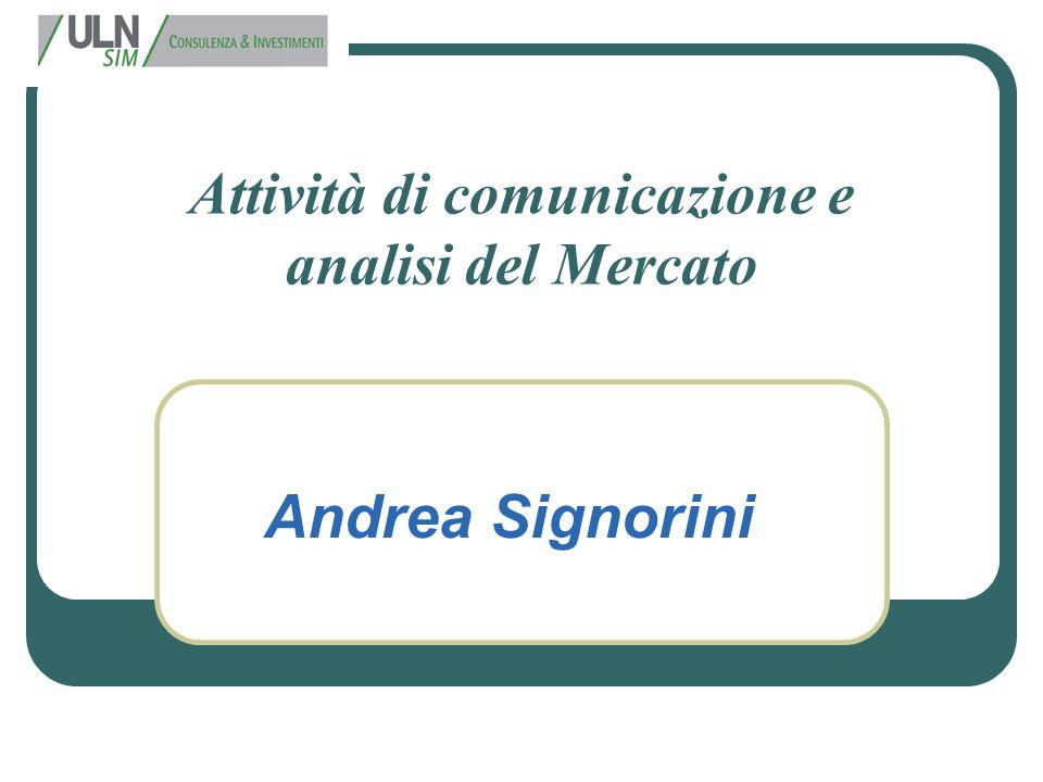 Attività di comunicazione e analisi del Mercato
