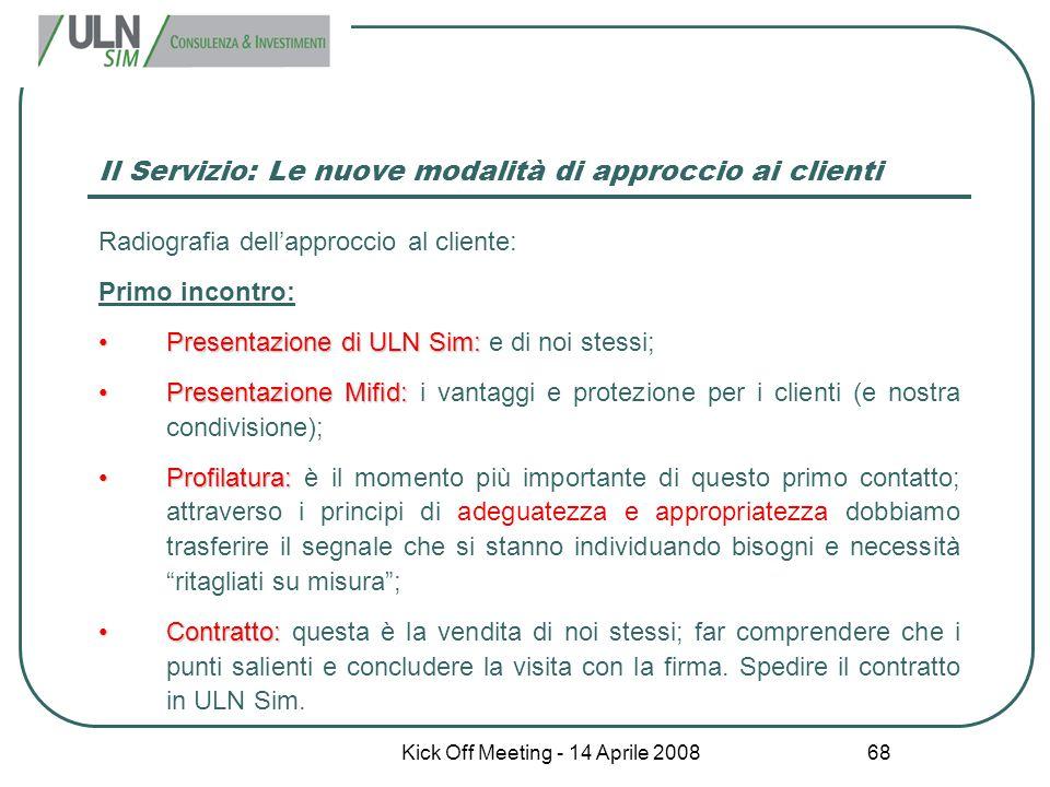 Il Servizio: Le nuove modalità di approccio ai clienti