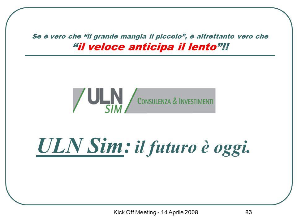 ULN Sim: il futuro è oggi.