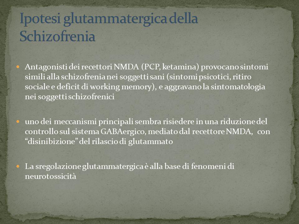 Ipotesi glutammatergica della Schizofrenia