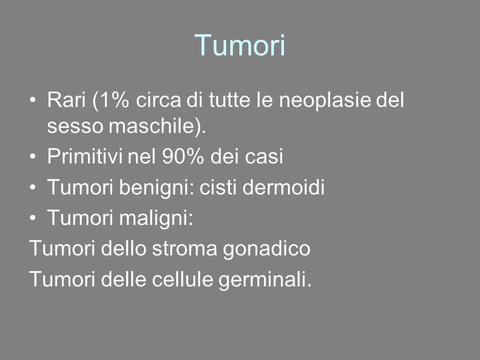 Tumori Rari (1% circa di tutte le neoplasie del sesso maschile).