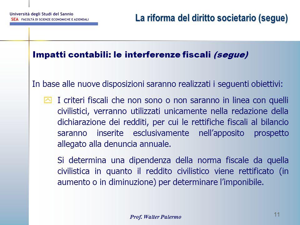 Impatti contabili: le interferenze fiscali (segue)