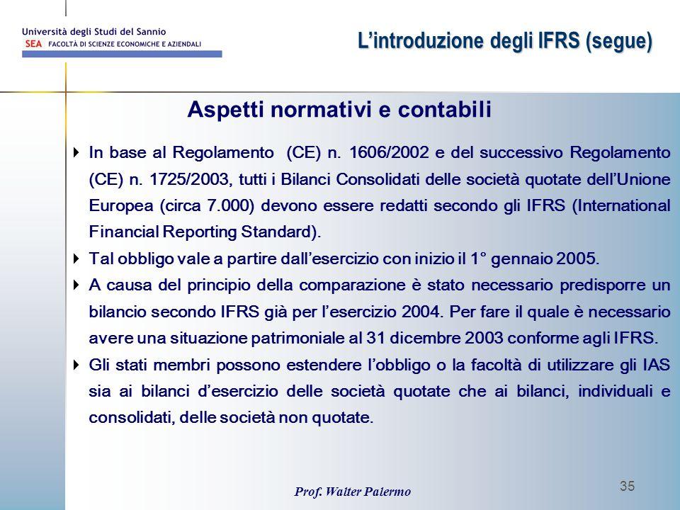 Aspetti normativi e contabili