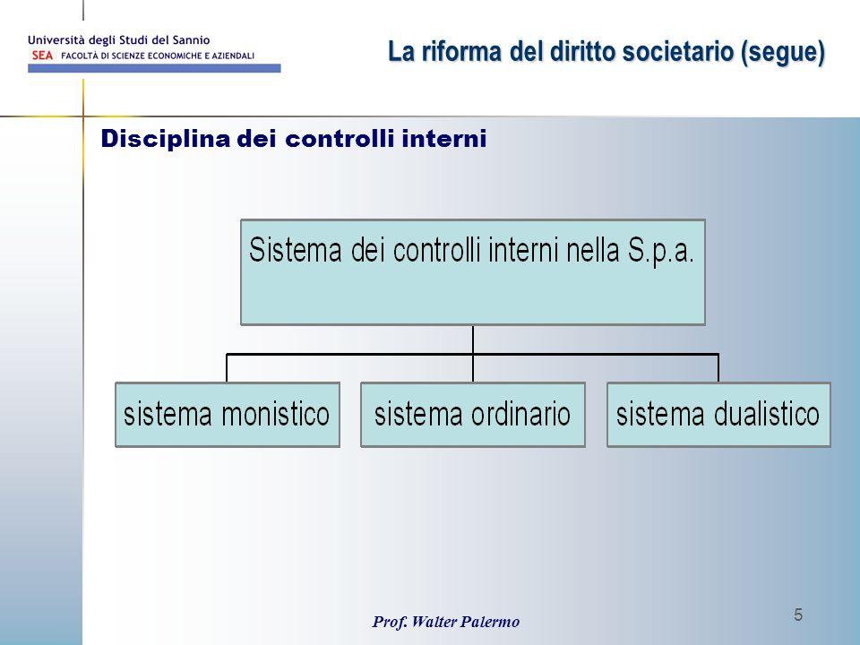 Disciplina dei controlli interni
