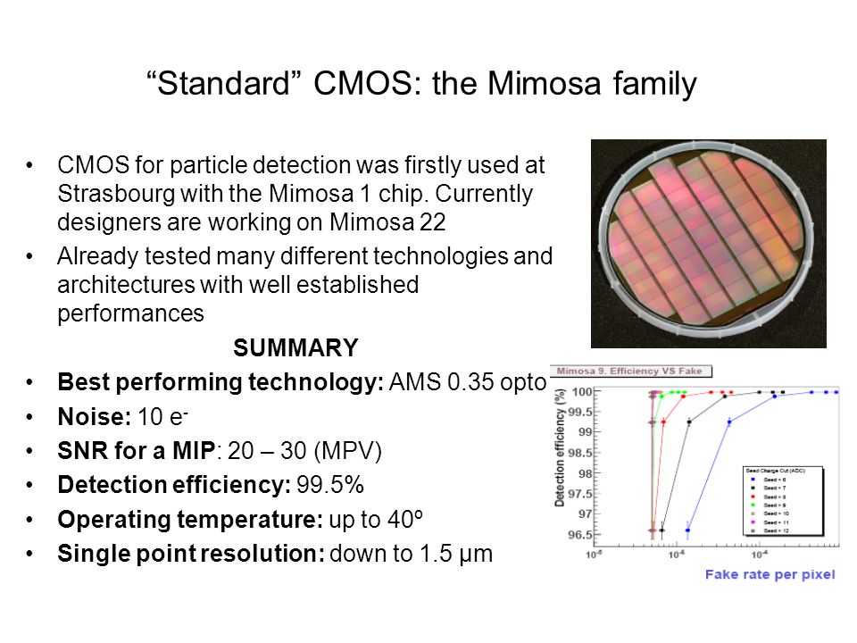 Standard CMOS: the Mimosa family