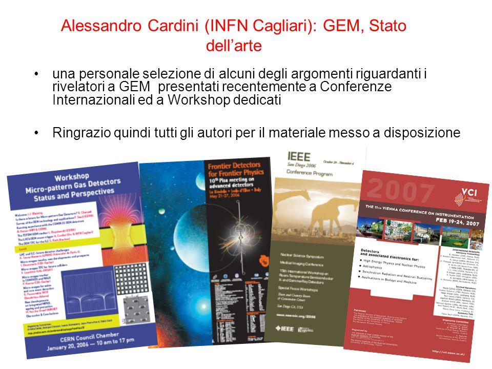 Alessandro Cardini (INFN Cagliari): GEM, Stato dell'arte