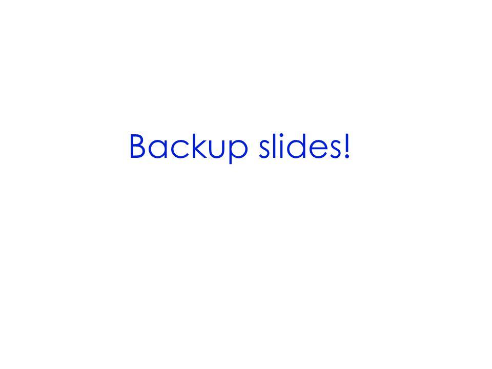 Backup slides!