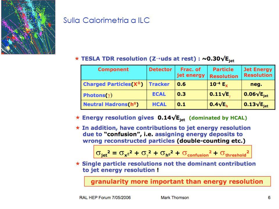 Sulla Calorimetria a ILC