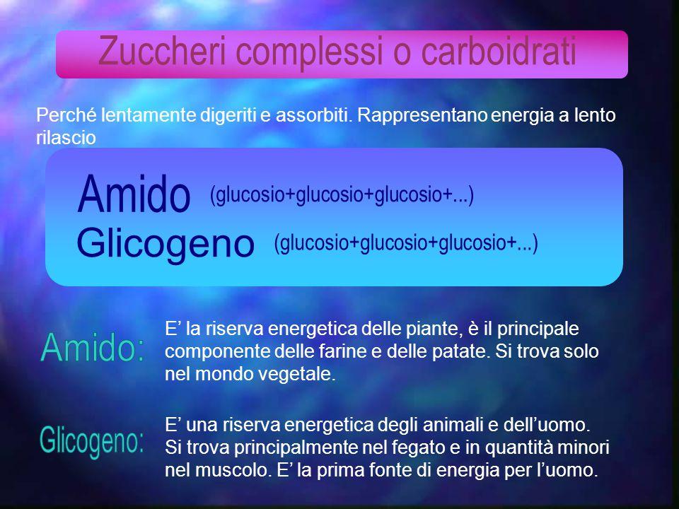 Zuccheri complessi o carboidrati