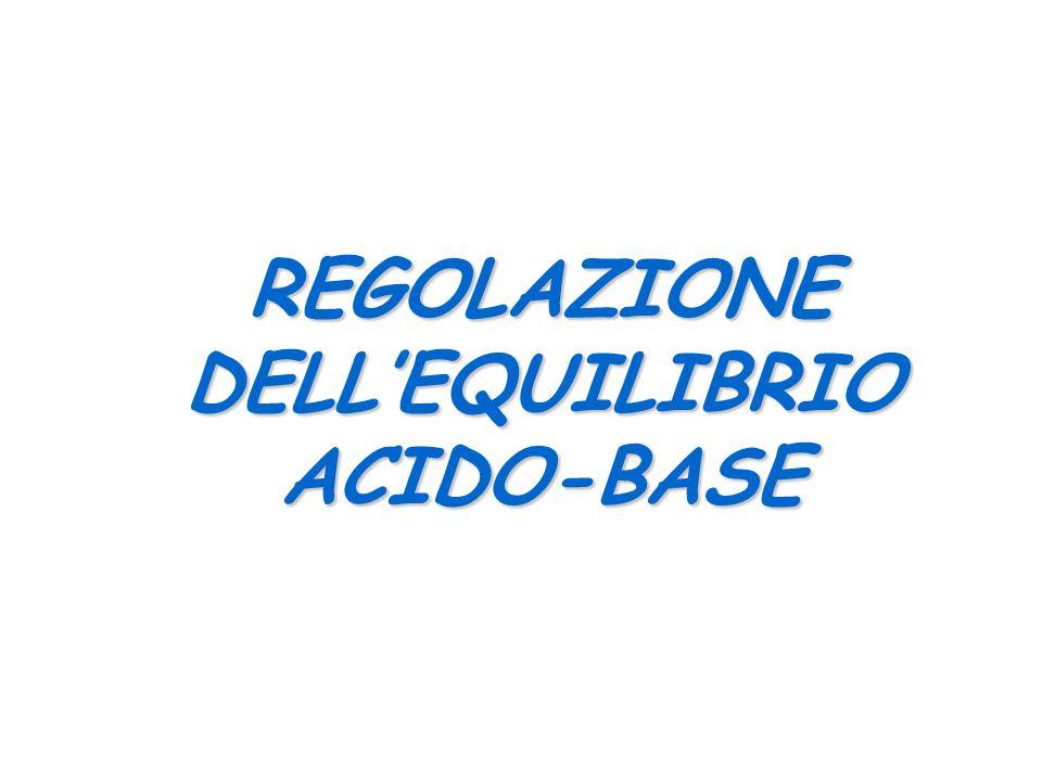 REGOLAZIONE DELL'EQUILIBRIO ACIDO-BASE