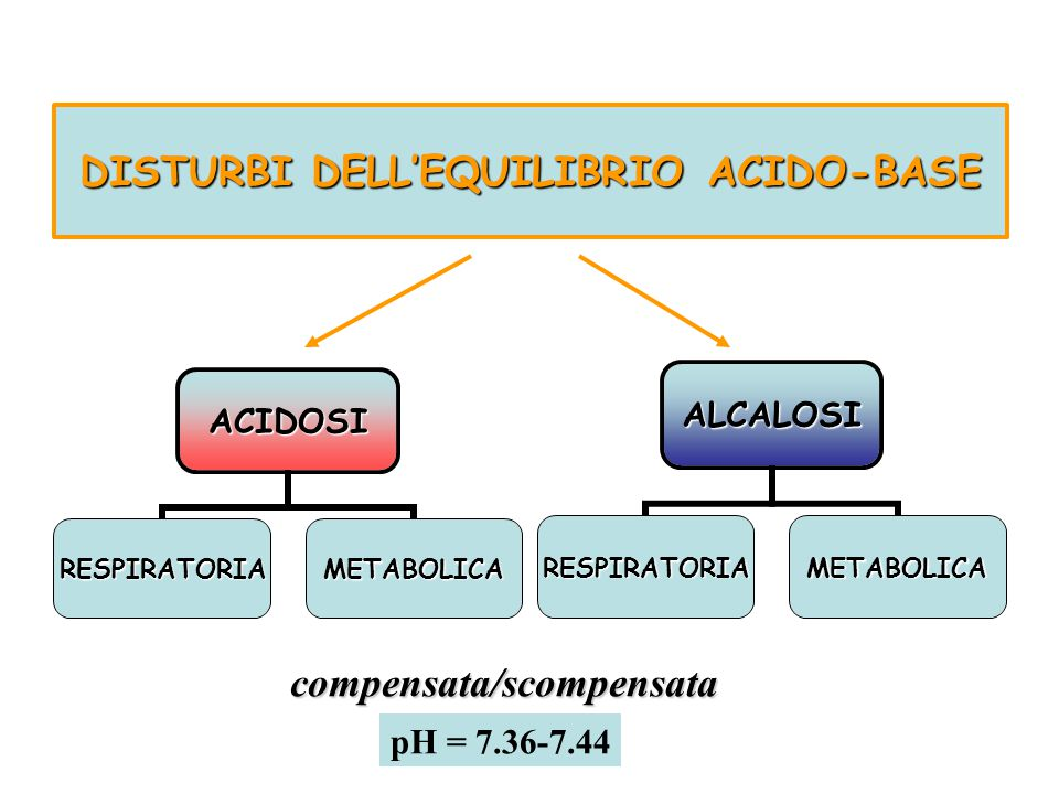 DISTURBI DELL'EQUILIBRIO ACIDO-BASE