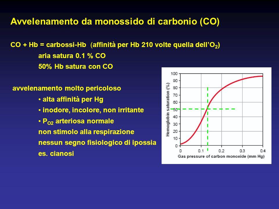 Avvelenamento da monossido di carbonio (CO)