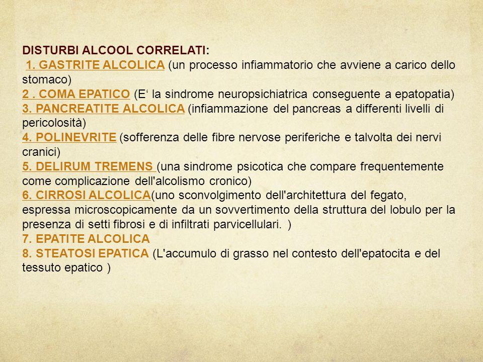 DISTURBI ALCOOL CORRELATI: