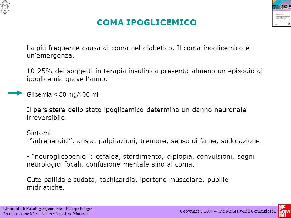 COMA IPOGLICEMICO La più frequente causa di coma nel diabetico. Il coma ipoglicemico è un'emergenza.