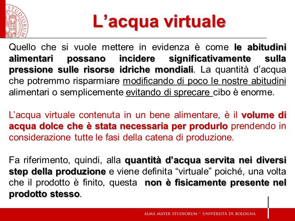 L'acqua virtuale