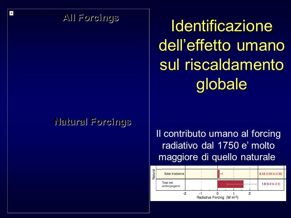 Identificazione dell'effetto umano sul riscaldamento globale