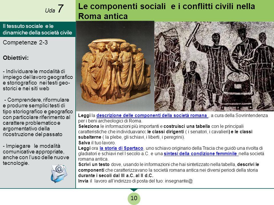 Le componenti sociali e i conflitti civili nella Roma antica
