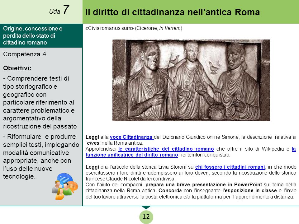 Il diritto di cittadinanza nell'antica Roma